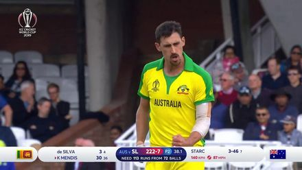 CWC19: SL v AUS - Two in two for Starc, Mendis caught behind