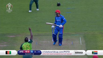 CWC19: SA v AFG - Afghanistan innings highlights
