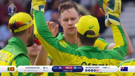 CWC19: SL v AUS - Thirimanne thin edges to Carey