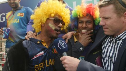 CWC19: SL v AUS - Excited Sri Lankan supporters