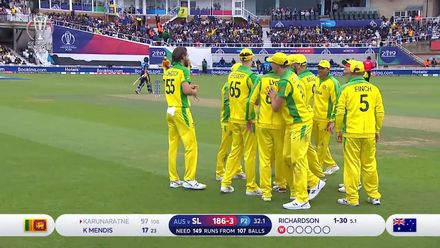 CWC19: SL v AUS - Karunaratne falls three short of a century