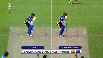 CWC19: SL v AUS - Karunaratne's stance analysis