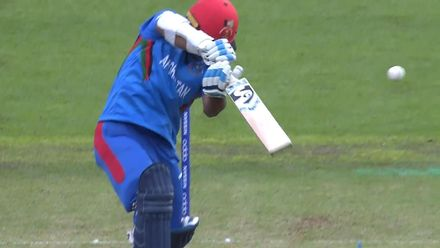 CWC19: SA v AFG - Hashmatullah is caught at slip