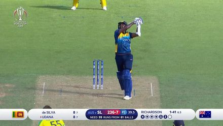 CWC19: SL v AUS - Finch takes a high catch to dismiss Udana