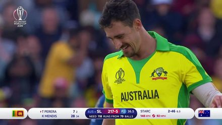 CWC19: SL v AUS - All of Mitchell Starc's wickets