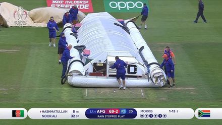 CWC19: SA v AFG - Rain stops play at Cardiff
