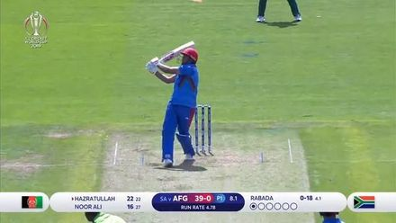 CWC 19: SA v AFG - Hazratullah caught out this time by van der Dussen