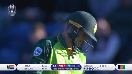 CWC19: SA v AFG - Captain Gulbadin makes the first breakthrough