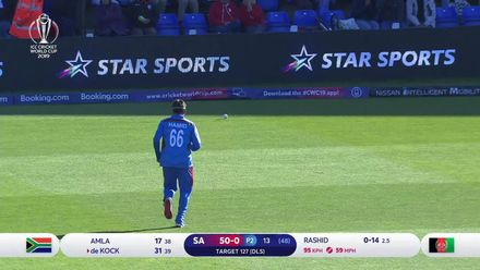 CWC19: SA v AFG - De Kock 's 68 takes the game away from Afghanistan