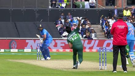 CWC19: IND v PAK - Rohit moves into the nineties with his third maximum