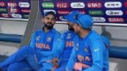 CWC19: IND v PAK - The Indian players are enjoying themselves despite a short delay to the start of the second innings