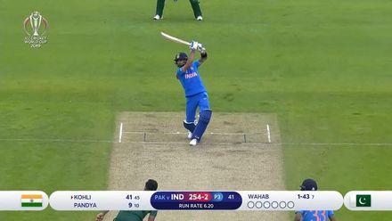 CWC19: IND v PAK - Kohli creams a four over extra cover off Wahab
