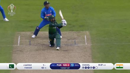 CWC19: IND v PAK - Hafeez hits a six second ball