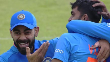 CWC19: IND v PAK - Imam wicket celebrations