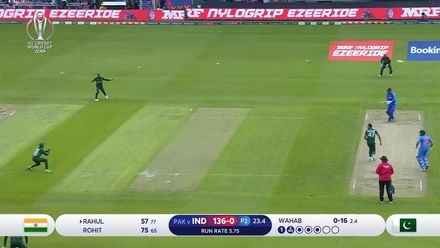 CWC19: IND v PAK - Rahul is caught at cover off Wahab