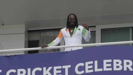 Chris Gayle dons India-Pakistan outfit