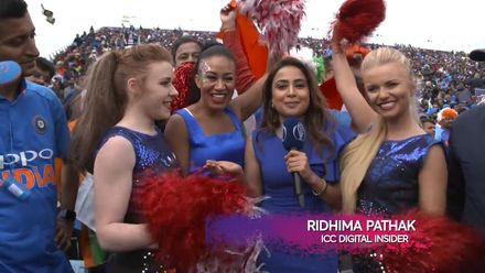 CWC19: IND v PAK - Ridhima speaks to cheerleaders