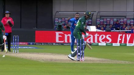 CWC19: IND v PAK - Shoaib Malik plays on first ball