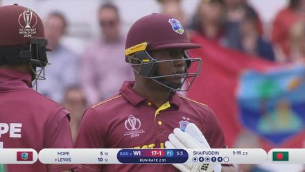 CWC19: WI v BAN - Highlights of Evin Lewis's 70