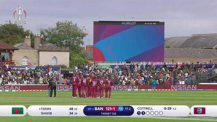 CWC19: WI v BAN - Bangladesh innings wickets