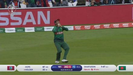 CWC19: WI v BAN - Holder goes for 33 off 15 balls