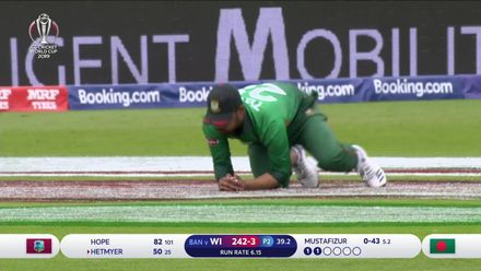 CWC19: WI v BAN - West Indies innings wickets