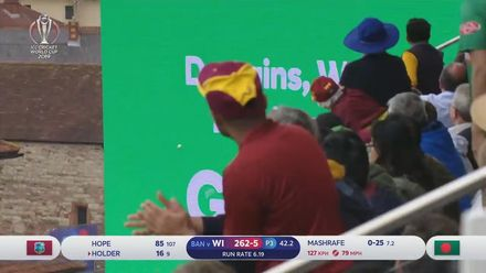 CWC19: WI v BAN - Jason Holder launches a 105 metre six!