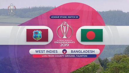 CWC19: WI v BAN - Highlights of West Indies' innings