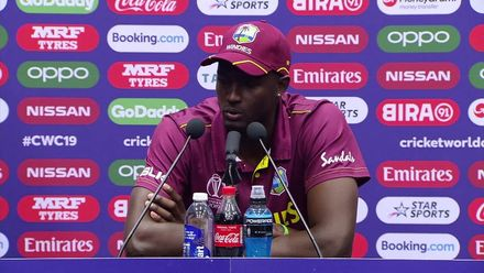 CWC19: WI v BAN - Jason Holder Press Conference
