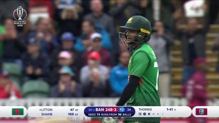 CWC19: WI v BAN - Bangladesh Innings highlights