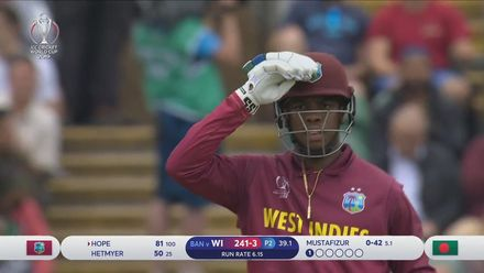 CWC19: WI v BAN - Shimron Hetymer's 50 off 26 balls