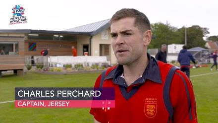 ICC Men's T20 World Cup Europe Final 2019, Jersey v Denmark - Jersey's Charles Perchard comments on victory over the Danes