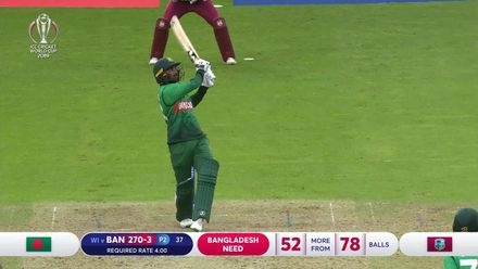 CWC19: WI v BAN - Highlights of Liton Das's 94*