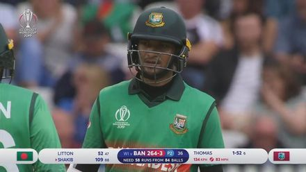 CWC19: WI v BAN - Highlights of Shakib Al Hasan's 124*