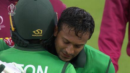 CWC19: WI v BAN - Bangladesh winning moment