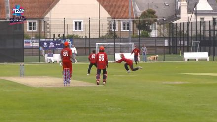 ICC Men's T20 World Cup Europe Final 2019, Jersey v Denmark - Jersey's fielders show their fielding prowess