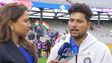 CWC19: IND v PAK - Kuldeep Yadav on 'perfect ball' to dismiss Babar Azam