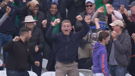 CWC19: WI v BAN - Great catch in the crowd!