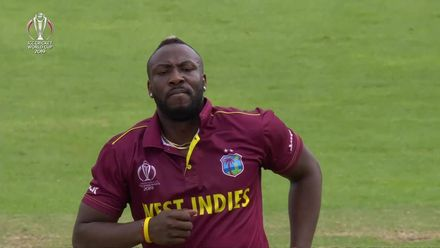 CWC19: WI v BAN - Andre Russell's knee injury