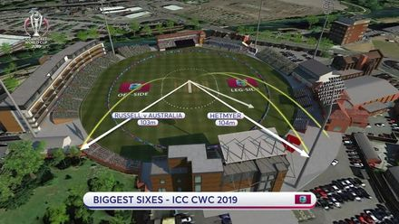 CWC19: WI v BAN - West Indies have hit the 3 biggest sixes in CWC19 so far