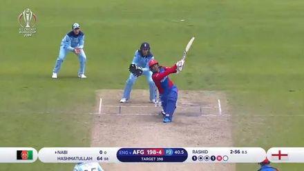 CWC19: ENG v AFG - Afghanistan innings highlights
