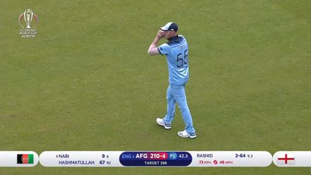 CWC19: ENG v AFG - Nabi holes out to Stokes