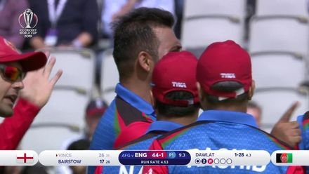 CWC19: ENG v AFG - Vince falls after top edging to Dawlat