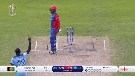 CWC19: ENG v AFG - Noor Ali drags on to give Archer his first