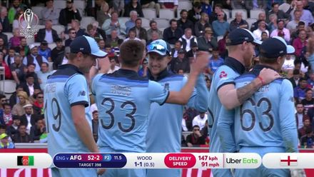 CWC19: ENG v AFG - Buttler's diving catch removes Gulbadin