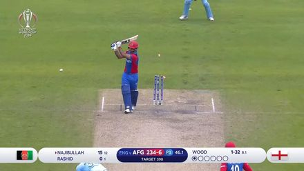 CWC19: ENG v AFG - Najibullah loses his wicket trying to go big
