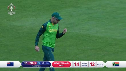 CWC19: NZ v SA - How South Africa took their wickets