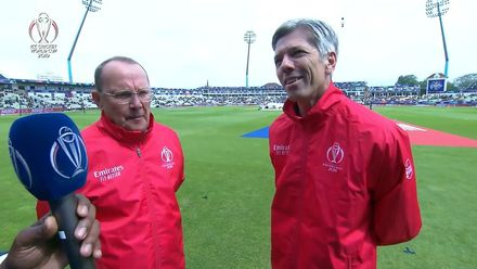 CWC19: NZ v SA - Umpires Ian Gould and Nigel Llong give the latest update