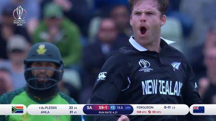 CWC19: NZ v SA - Lockie Ferguson took 3/59, highlights