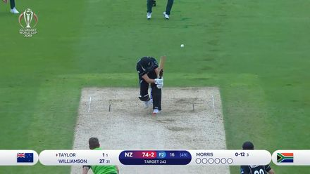 CWC19: NZ v SA - Taylor is caught down the leg side